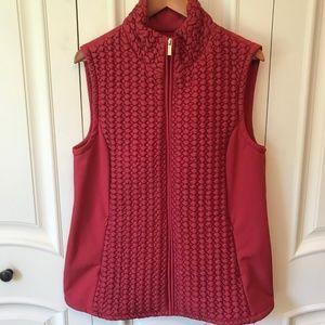 NEW Susan Graver Zip Front Textured Vest w/Pockets